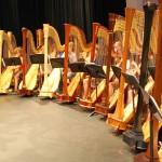 harps on stage
