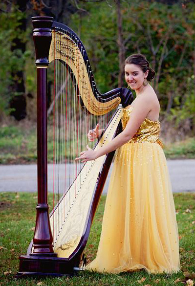 Christine Pfiester was inspired at YAHS by TA Marissa Knaub, and now specializes in jazz harp.