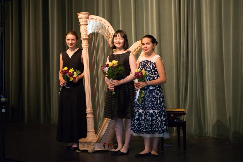From left: Abigail Enssle; Joan Rafaelle Kim; Claire Thai. (photo Edward Bennett)